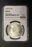 1879-S MORGAN SILVER DOLLAR NGC MINT STATE 65