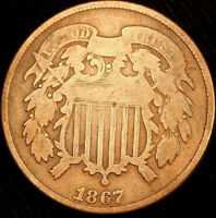 1867 SHIELD TWO CENT-   BETTER DATE  R5812