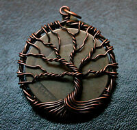 1875 SILVER SEATED LIBERTY HALF DOLLAR COPPER TREE OF LIFE PENDANT