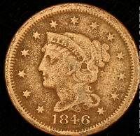 1846 BRAIDED HAIR LARGE CENT    BETTER DATE T9179