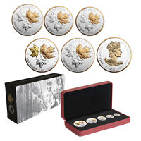 2016 CANADIAN SILVER MAPLE LEAF FRACTIONAL COIN SET  A HISTORIC REIGN
