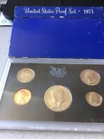 1971 UNITED STATES PROOF SET 5 COINS
