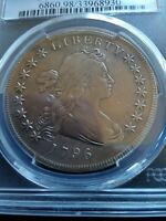 1796 DRAPED BUST DOLLAR, PCGS VF DETAILS, LOW MINTAGE