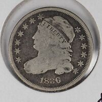 1836 10C CAPPED BUST DIME  GOOD CONDITION 169048