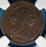 1804 PLAIN 4, NO STEMS BUST HALF CENT NGC VF20BN-   LOOKING EXAMPLE