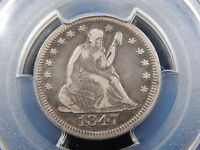 1847 O 25C SEATED LIBERTY QUARTER VF 25 PCGS HARD TO FIND