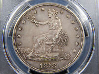 1878 S T$1 TRADE DOLLAR XF 45 PCGS ORIGINAL
