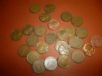 LOT OF 28 LINCOLN CENTS - ALL DIFFERENT - 1940 TO 58 - 4