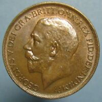 1913 GEORGE V PENNY   GLOSSY BROWN CHOICE UNCIRCULATED