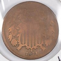 1871 2C TWO CENT PIECE GOOD CONDITION 167736