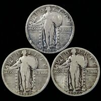 1925 1926 1927 STANDING LIBERTY QUARTER  / SHIPS FREE    S071709