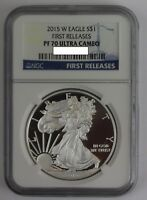 2015 W AMERICAN SILVER EAGLE NGC PF70 ULTRA CAMEO ASE 1ST RELEASE 1 .999 BULLION