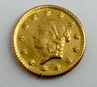 1853 USA LIBERTY HEAD $1 ONE DOLLAR .900 FINE GOLD COIN EARLY AMERICAN MINT