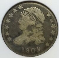 1809 CAPPED BUST DIME   ANACS VG10