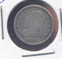 1835 CAPPED BUST SILVER HALF-DIME. GOOD. LOT1