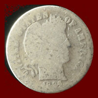 1896-P BARBER 90 SILVER DIME SHIPS FREE. BUY 5 FOR $2 OFF