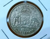 1942 AUSTRALIA STERLING SILVER FLORIN