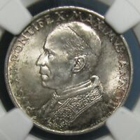 1940 VATICAN 5 LIRE GRADED MS 65 BY NGC   LOADS OF LUSTER