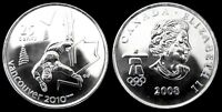 CANADA 25 CENT 2008 UNC 2010 VANCOUVER OLYMPIC COLLECTOR COIN FREE STYLE SKIING