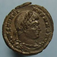 MINT STATE CONSTANTINE THE GREAT GLORIA EXERCITVS AE 3 FROM TRIER