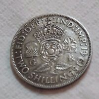 UK 1941 SILVER FLORIN COIN TWO SHILLINGS KING GEORGE BEAUTY