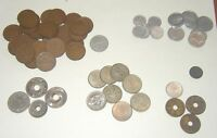 LOT OF OLD  MID 20TH CENTURY   COINS FROM JAPAN