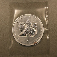 2013 1 OZ CANADIAN MAPLE LEAF 25TH ANNIVERSARY .9999 SILVER COIN   MINT SEALED