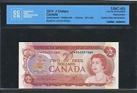 1974 BANK OF CANADA $2  RA R/A CCCS UNC 65. HIGHEST REPORTED NUMBER  BC 47AA
