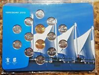 CANADA 2010 VANCOUVER OLYMPIC 14 COIN PL SET NEW