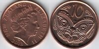 NEW ZEALAND 10 TEN CENT COIN 2013 UNC