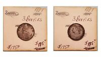 1881 FARTHING PRETTY CHOCOLATE BROWN UNCIRCULATED 3 BERRIES