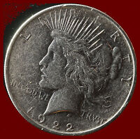 1922 D PEACE 90  SILVER DOLLAR SHIPS FREE. BUY 5 FOR $2 OFF