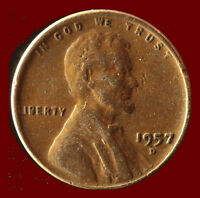 1957 D WHEAT CENT SHIPS FREE. BUY 5 FOR $2 OFF