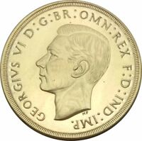 1937 GREAT BRITAIN KING GEORGE VI PROOF GOLD  2  POUNDS COI