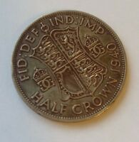 1940 GREAT BRITAIN BRITISH HALF CROWN SILVER      LOVELY TON