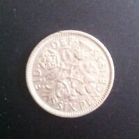BRITISH MONARCH COLLECTIBLE 1955 ELIZABETH II SIXPENCE COIN