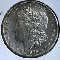 1878 S MORGAN SILVER DOLLAR   BETTER DATE COIN CLEANED