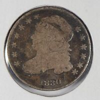 1830 10C MEDIUM 10C CAPPED BUST DIME GOOD 173527