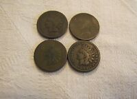 LOT OF 4 INDIAN HEAD CENTS   1879 1880 1882 1883