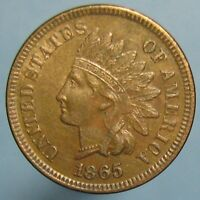 1865 INDIAN HEAD CENT   BROWN UNCIRCULATED WITH SOME MINT RED REMAINING