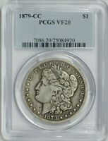1879 CC MORGAN DOLLAR VF 20 PCGS