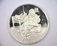 1997 CHRISTMAS ROUND 1 OZ .999 FINE SILVER | SANTA | MERRY CHRISTMAS  RC4802