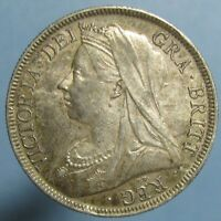 BEAUTIFULLY TONED UNCIRCULATED 1898 VICTORIA HALF CROWN