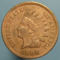 1906 INDIAN HEAD CENT   LIGHT BROWN WITH A HINT OF RED