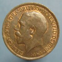 1918 GEORGE V FARTHING   RED & BROWN UNCIRCULATED