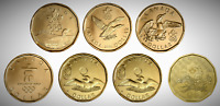 CANADA 2004   2016 COMPLETE BU UNC 7 COIN OLYMPIC LUCKY LOONIE SET