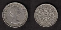 1966 QUEEN ELIZABETH II   TWO SHILLINGS FLORIN BRITISH COIN