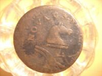 1787 OFF CENTER ERROR NEW JERSEY COLONIAL CENT