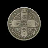 1852 GREAT BRITAIN QUEEN VICTORIA FLORIN 2 SHILLINGS .925 SI