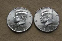 1998 P AND D KENNEDY HALF DOLLAR COINS WITH DIE BREAK   LOT W5